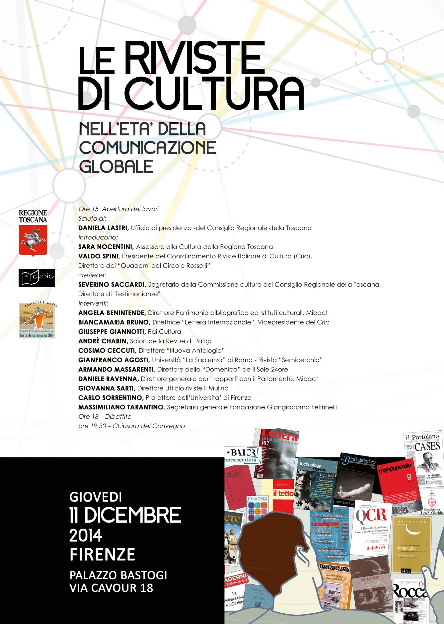 """Firenze, 11 dicembre - """"Le riviste di cultura nell'età della comunicazione globale"""""""