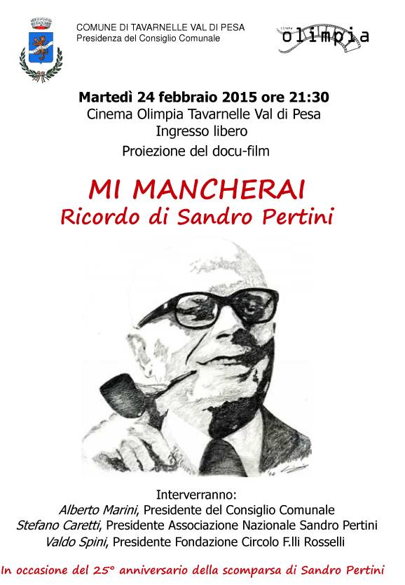 Tavarnelle, 24 febbraio - incontro su Pertini