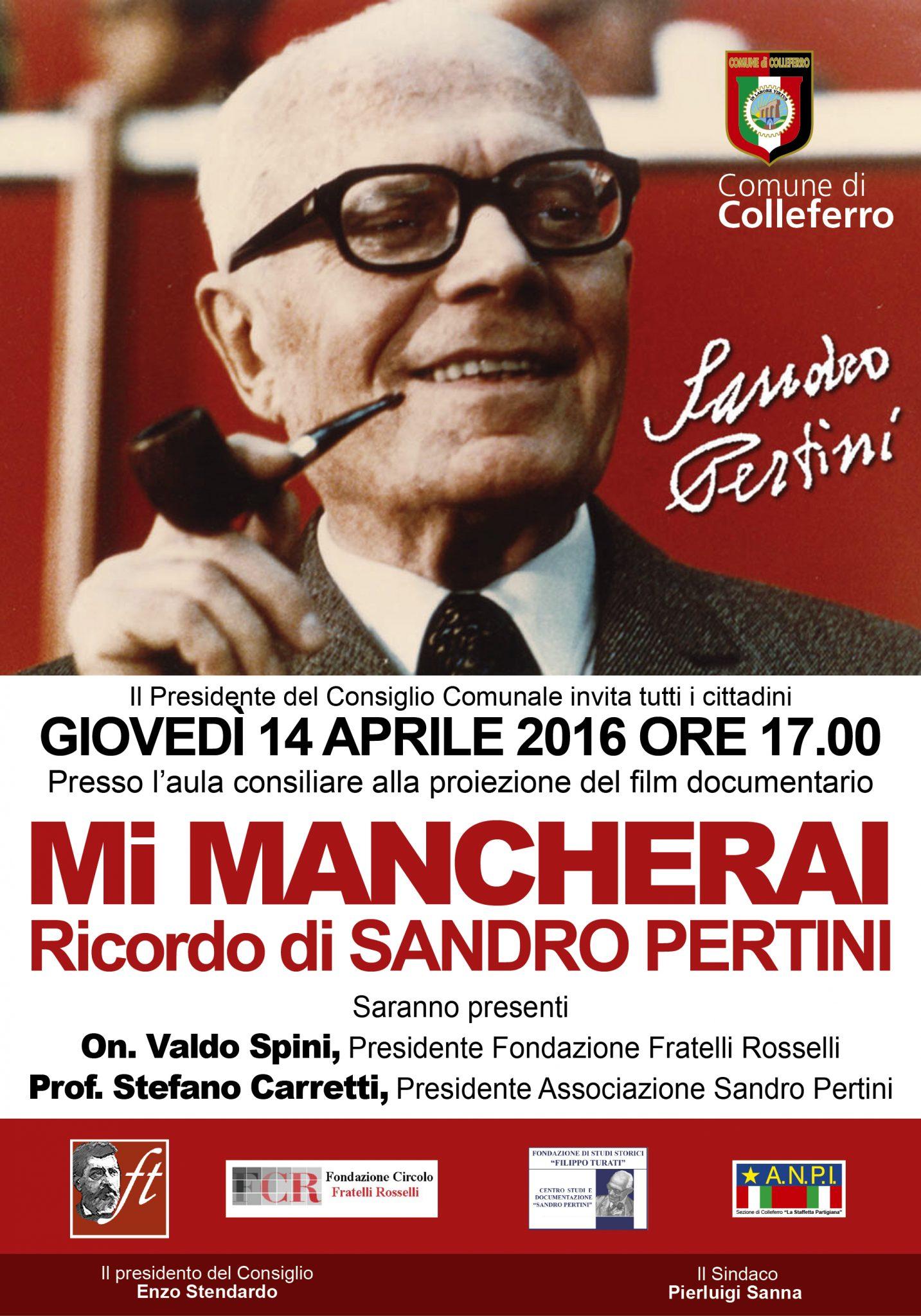 Un ricordo di Sandro Pertini a Colleferro (RM)
