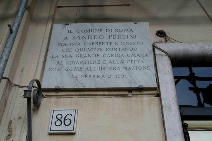 Rinnoviamo l'appello per una Casa della Memoria dedicata a Sandro Pertini a Roma