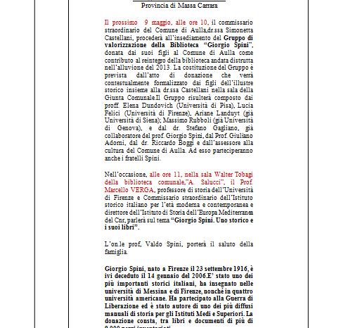 Giorgio Spini: uno storico e i suoi libri