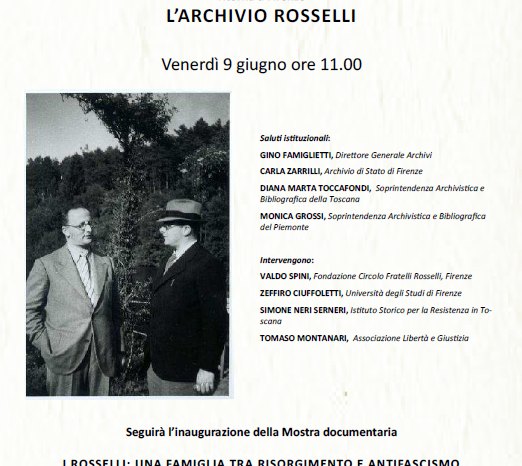 Conferenza e mostra sui Rosselli all'Archivio di Stato di Firenze