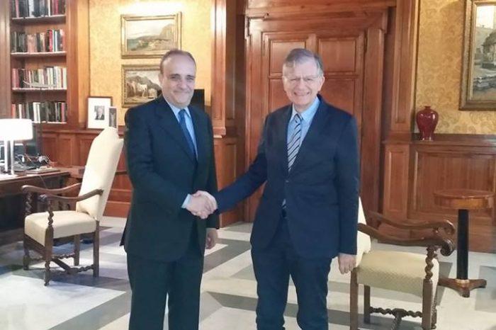Ministro dei Beni Culturali Alberto Bonisoli riceve il presidente dell'Aici Valdo Spini