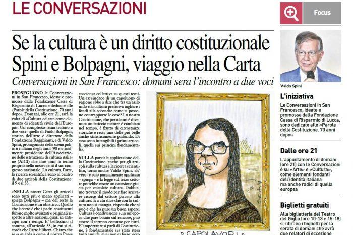 """Articolo di oggi su la """"Nazione"""" sull'iniziativa di domani alle ore 21.00 , nella Chiesa di San Francesco - """" Arte e Cultura"""""""