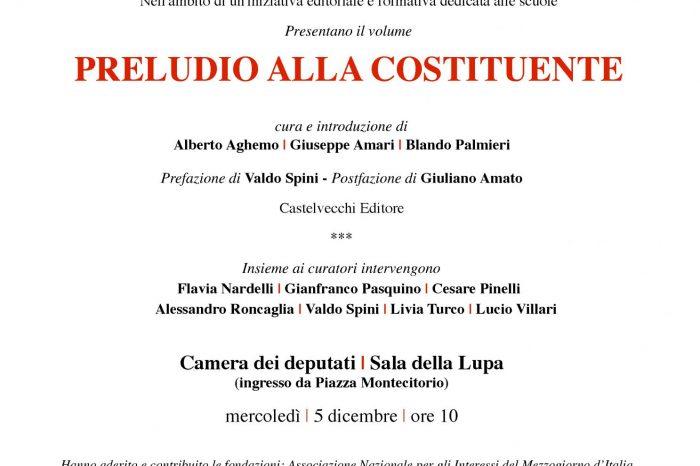 Video - PRELUDIO ALLA COSTITUENTE – MERCOLEDI' 5 DICEMBRE, ROMA, CAMERA DEI DEPUTATI, SALA DELLA LUPA