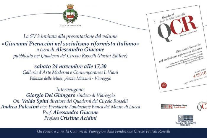 Sabato 24 Novembre alle 17,30 – «Giovanni Pieraccini nel socialismo riformista italiano»