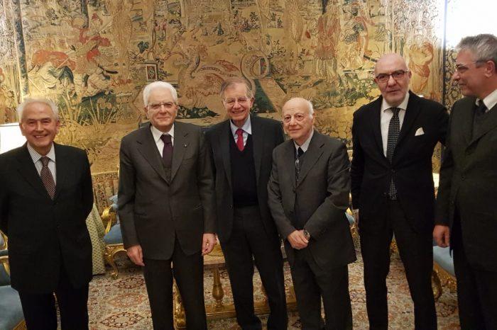 14 DICEMBRE 2018 - Incontro tra il Presidente dell' AICI Valdo Spini e il Presidente della Repubblica Sergio Mattarella
