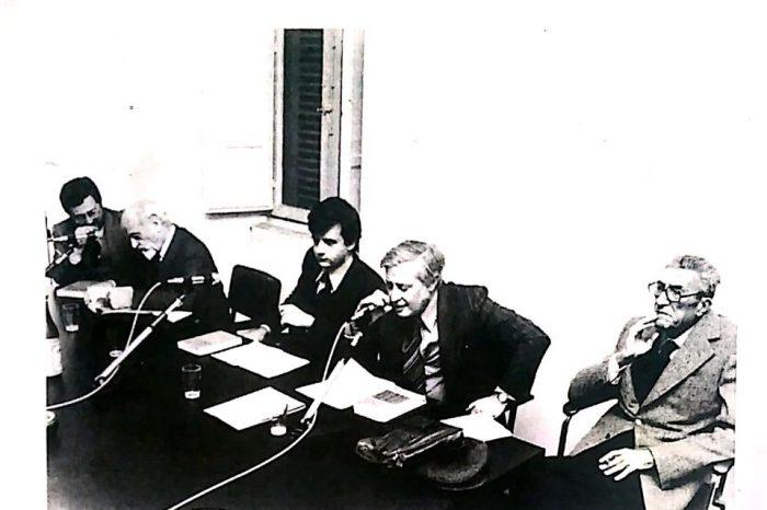 """Intervento in """"Il Psi negli anni dello stalinismo"""", tavola rotonda con Lelio Basso, Federico Coen, e Riccardo Lombardi."""