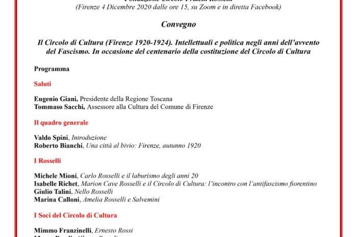 Il Circolo di Cultura (Firenze 1920-1924)