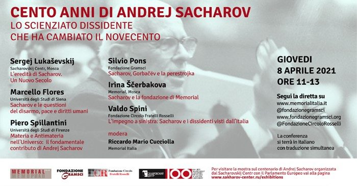 Intervento Valdo Spini - Cento anni di Andrej Sacharov.  Lo scienziato dissidente che ha cambiato il Novecento