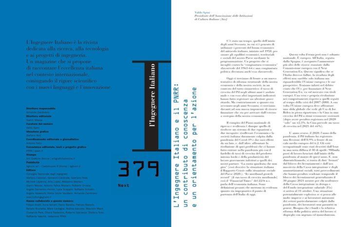 A cura di Valdo Spini, L'Ingegnere Italiano, 1/2021, n. 379 Next